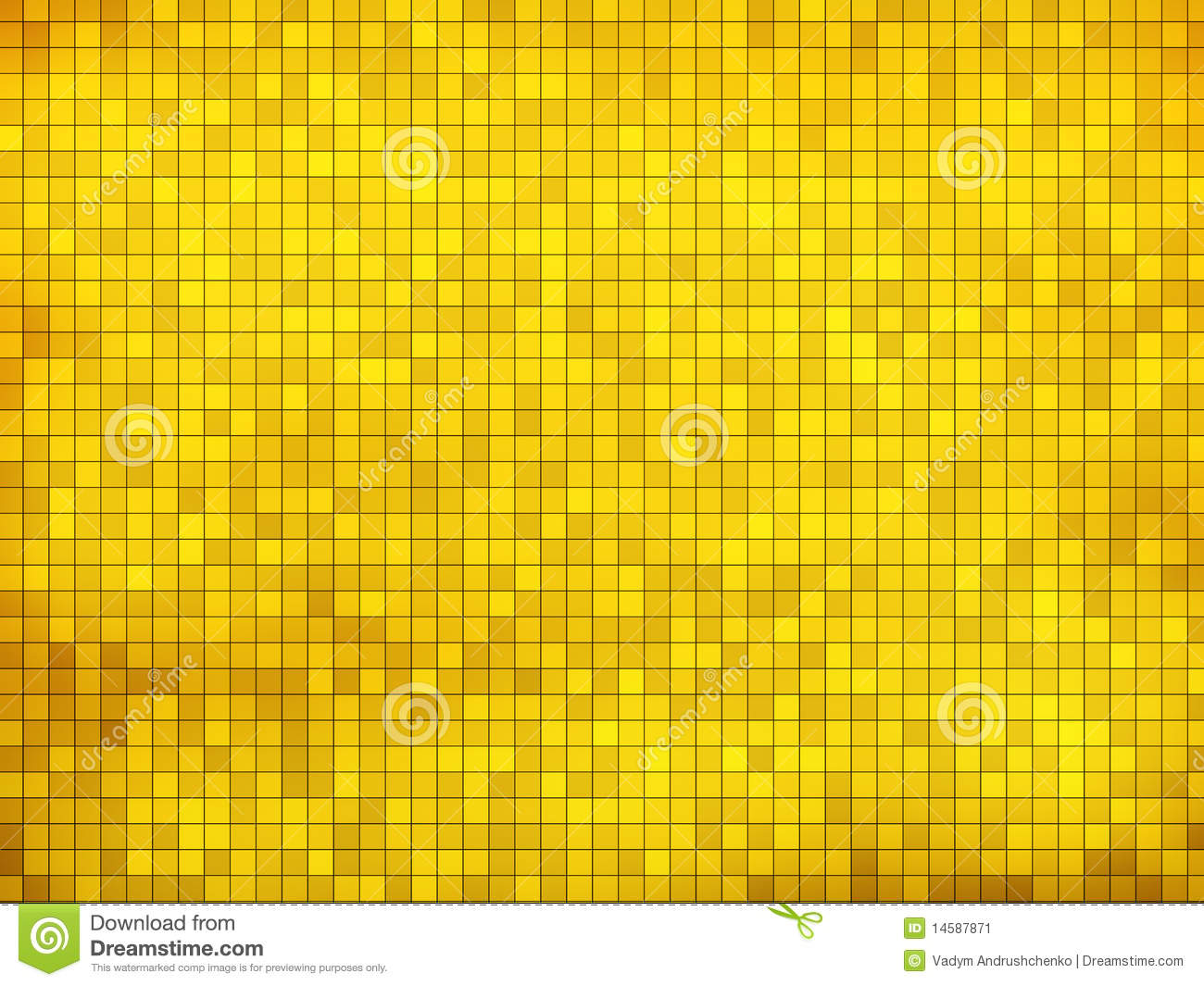 Gold Mosaic Background Stock Image Image 14587871