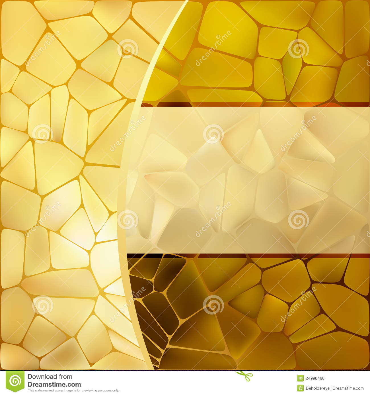 Gold Mosaic Background Template. EPS 8 Stock Vector - Illustration ...