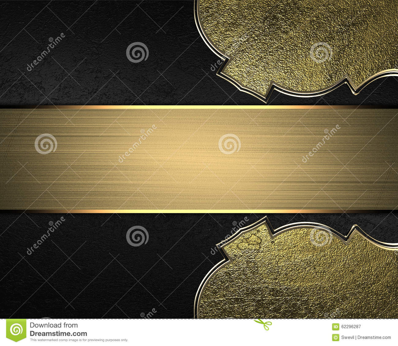 gold nameplate element for design template for design copy space