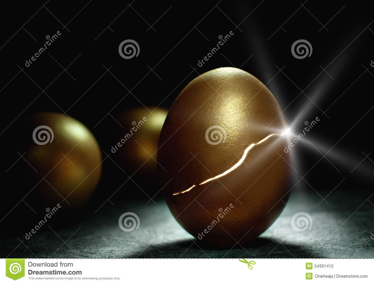 Gold nest egg coming to life
