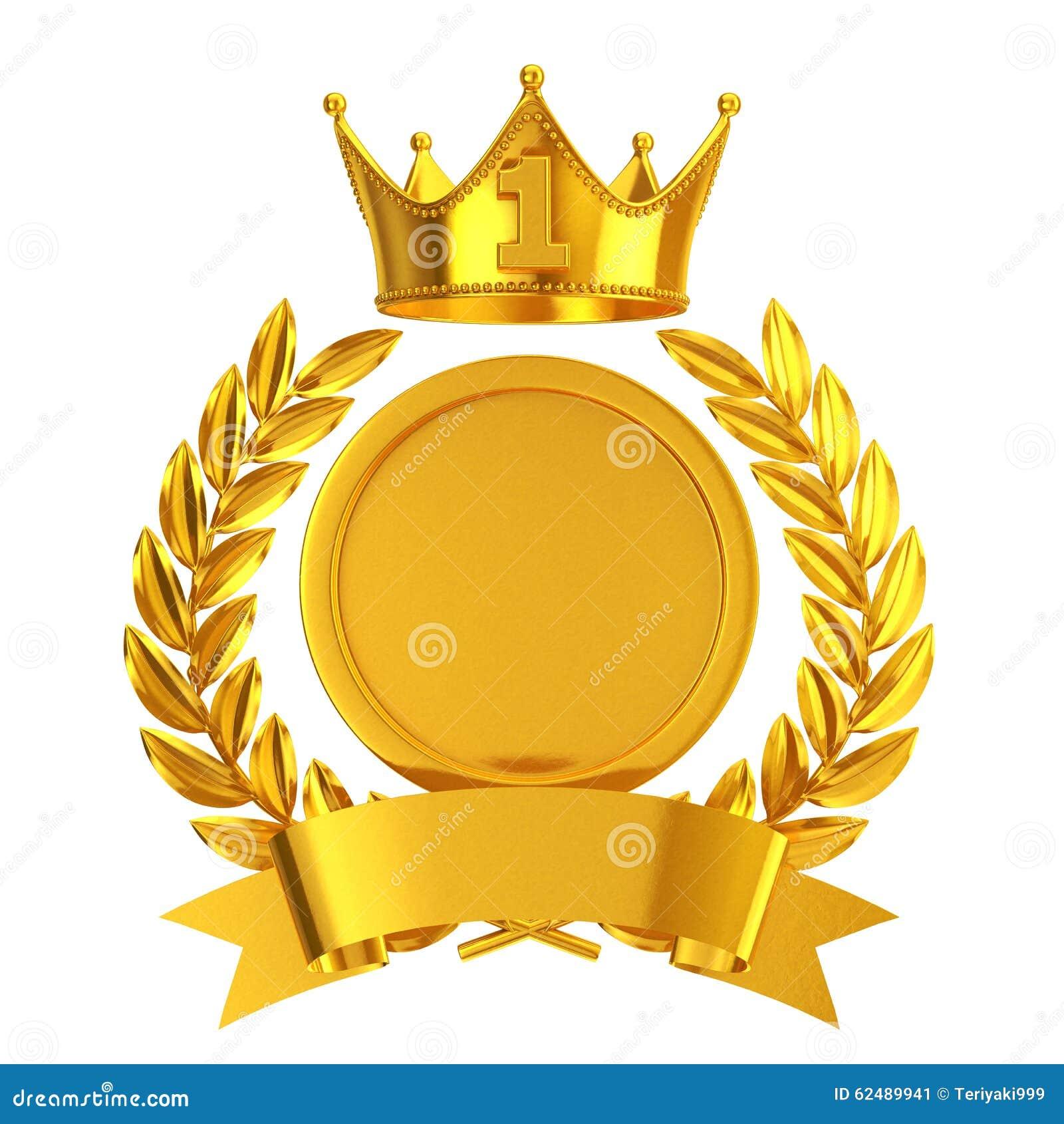 gold no 1 emblem stock illustration  illustration of crown