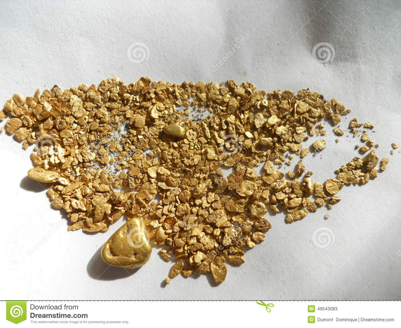 gold nuggets and flakes stock image image of scarce