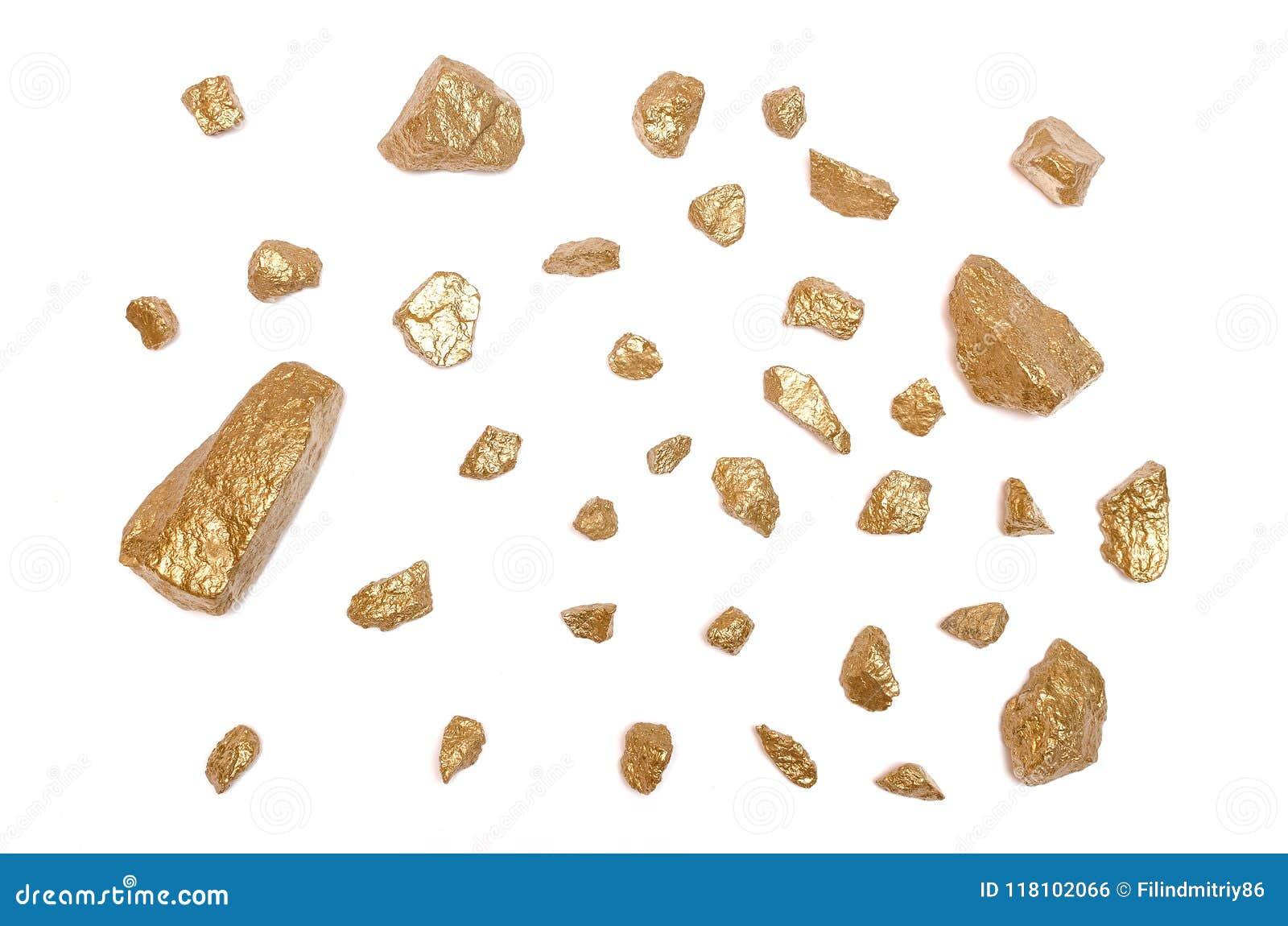 Gold nuggets ore  stock photo  Image of fake, orange - 118102066