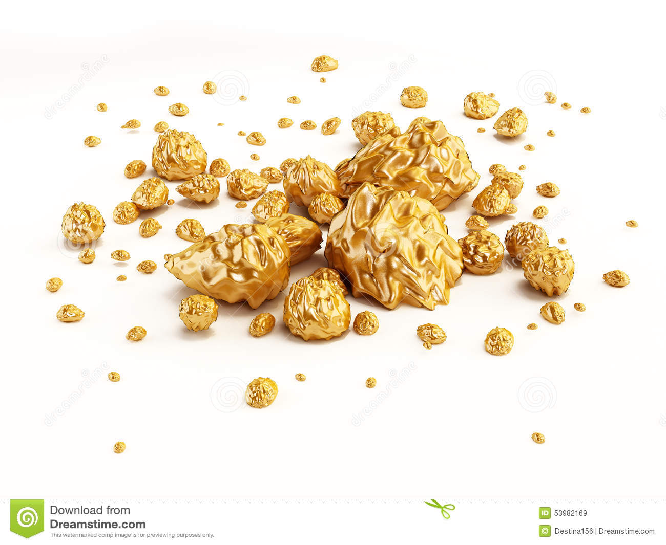Gold pile png