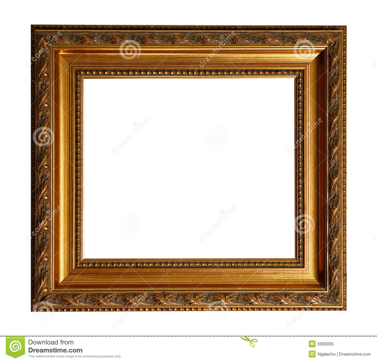 Square Frame Clipart Gold old square frame with