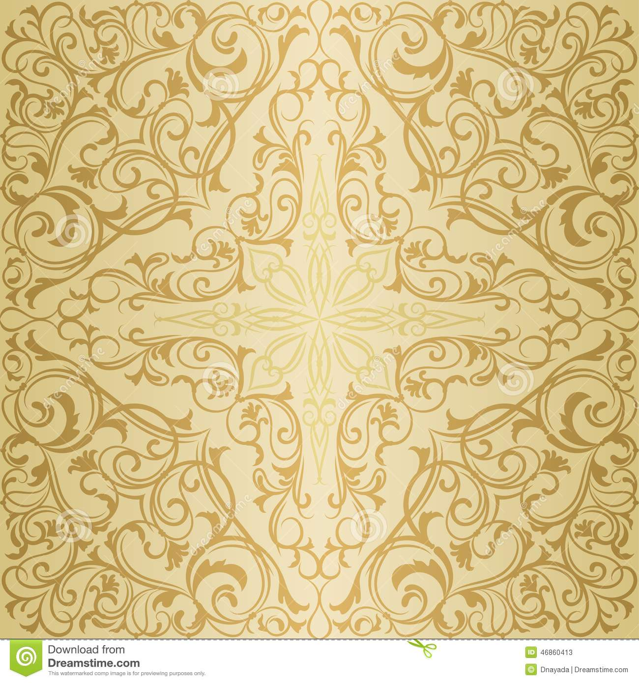 gold orient muster vektor abbildung illustration von floral 46860413. Black Bedroom Furniture Sets. Home Design Ideas