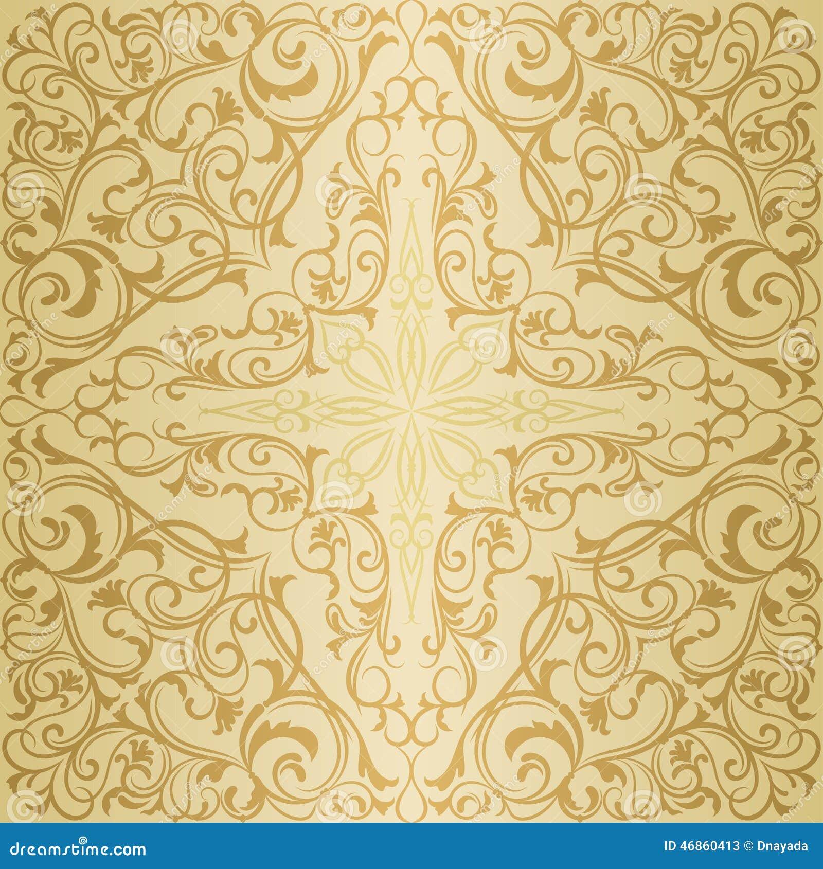 gold orient muster vektor abbildung bild 46860413. Black Bedroom Furniture Sets. Home Design Ideas