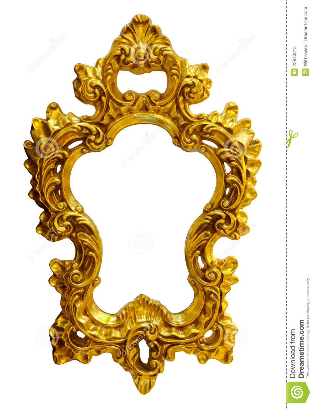 Gold Ornate Oval Frame Royalty Free Stock Photo Image