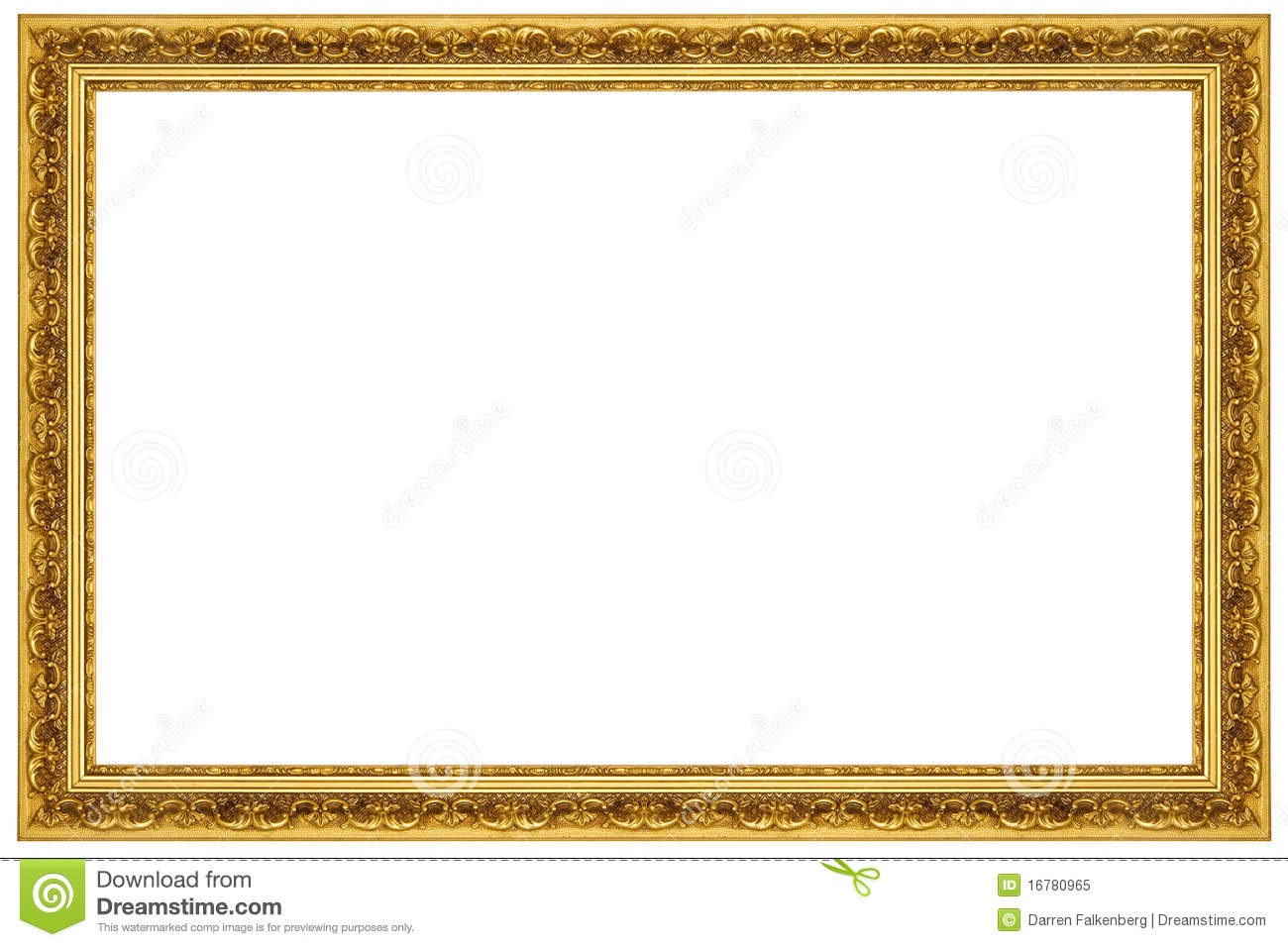 Gold Ornate Picture Frame stock image. Image of painting - 16780965
