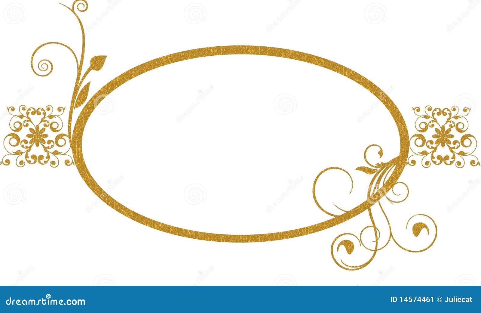 Gold Oval Frame Background