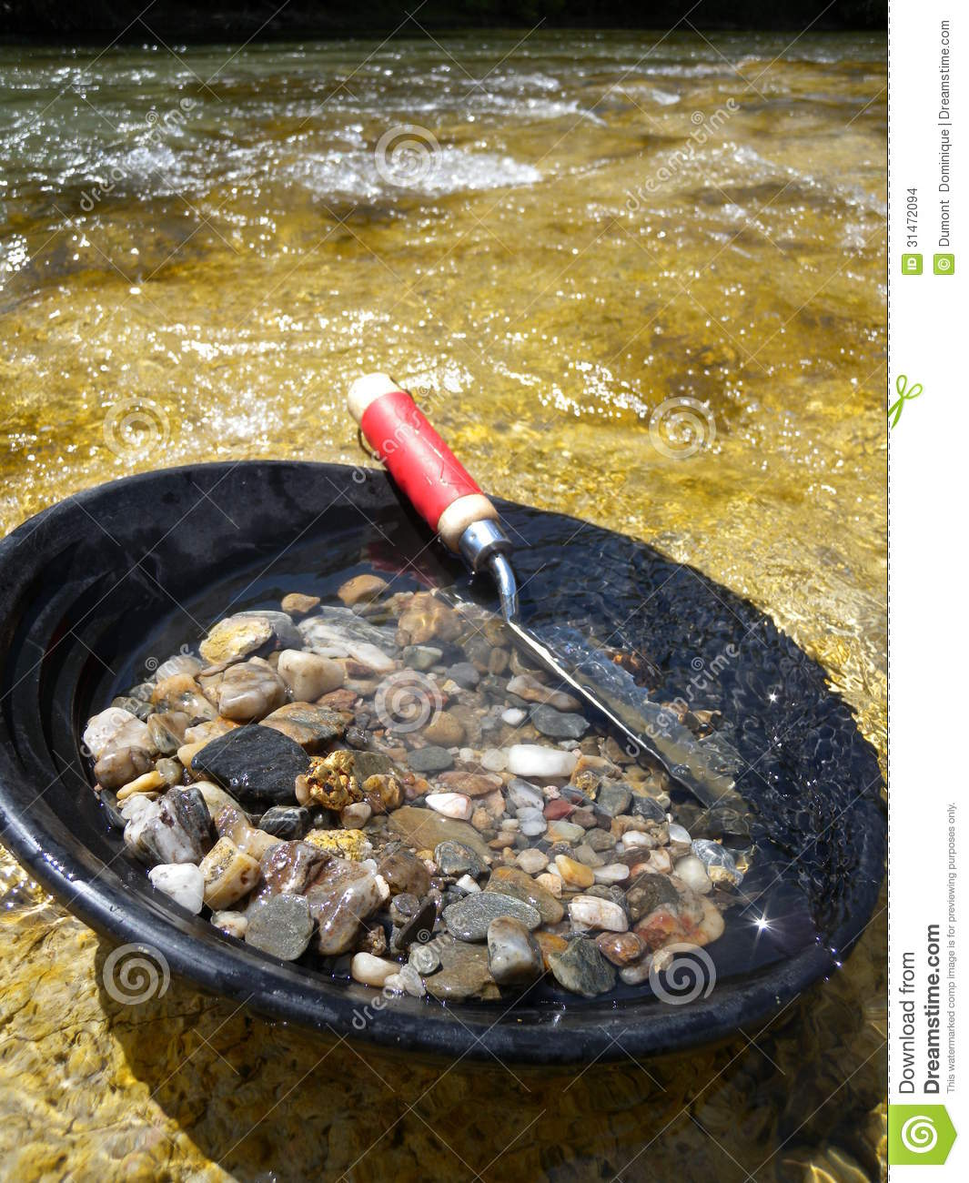 Gold Pan Stock Photo Image Of Wash Running Stones