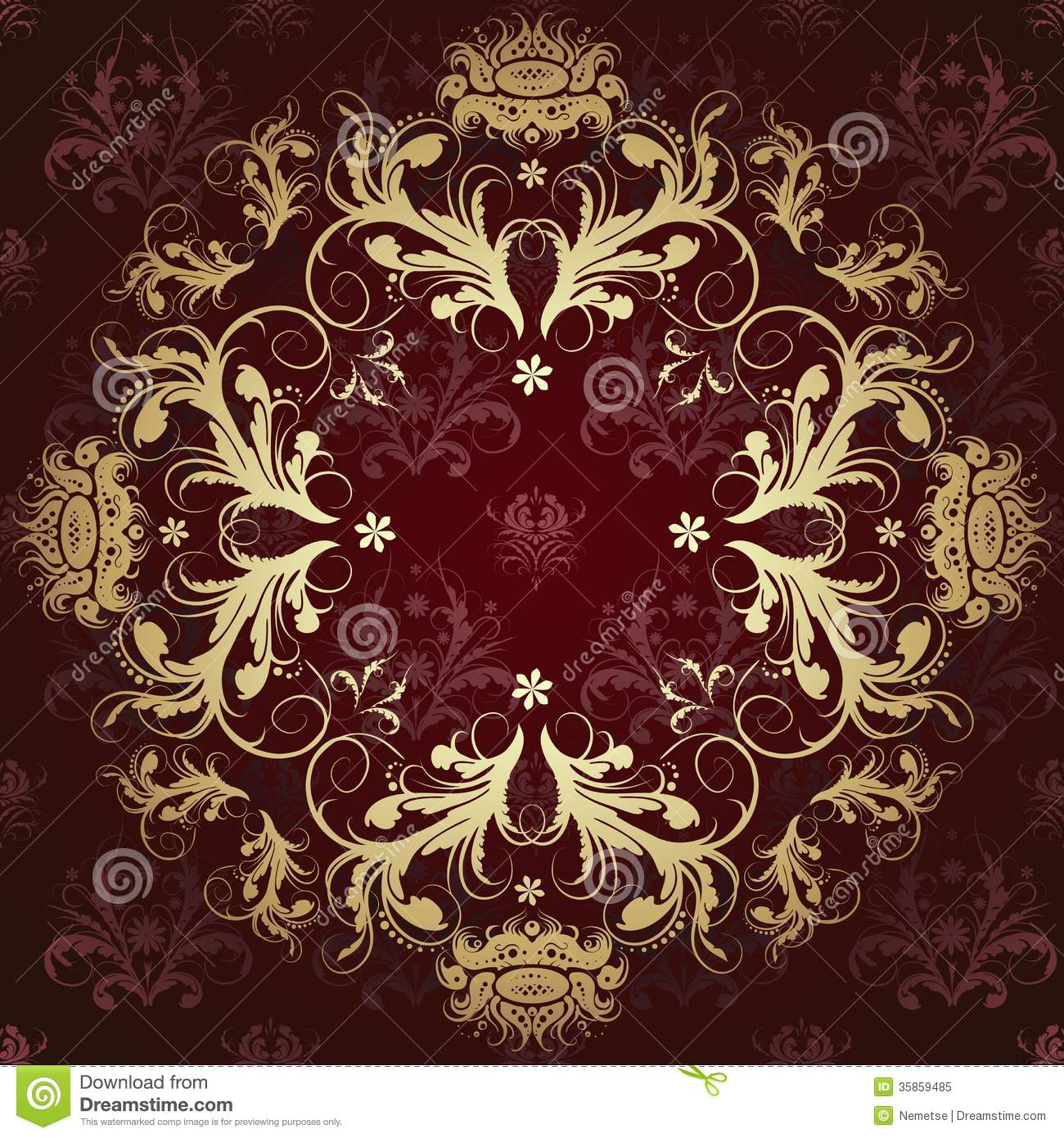 Gold Pattern On A Beautiful Background Stock Vector