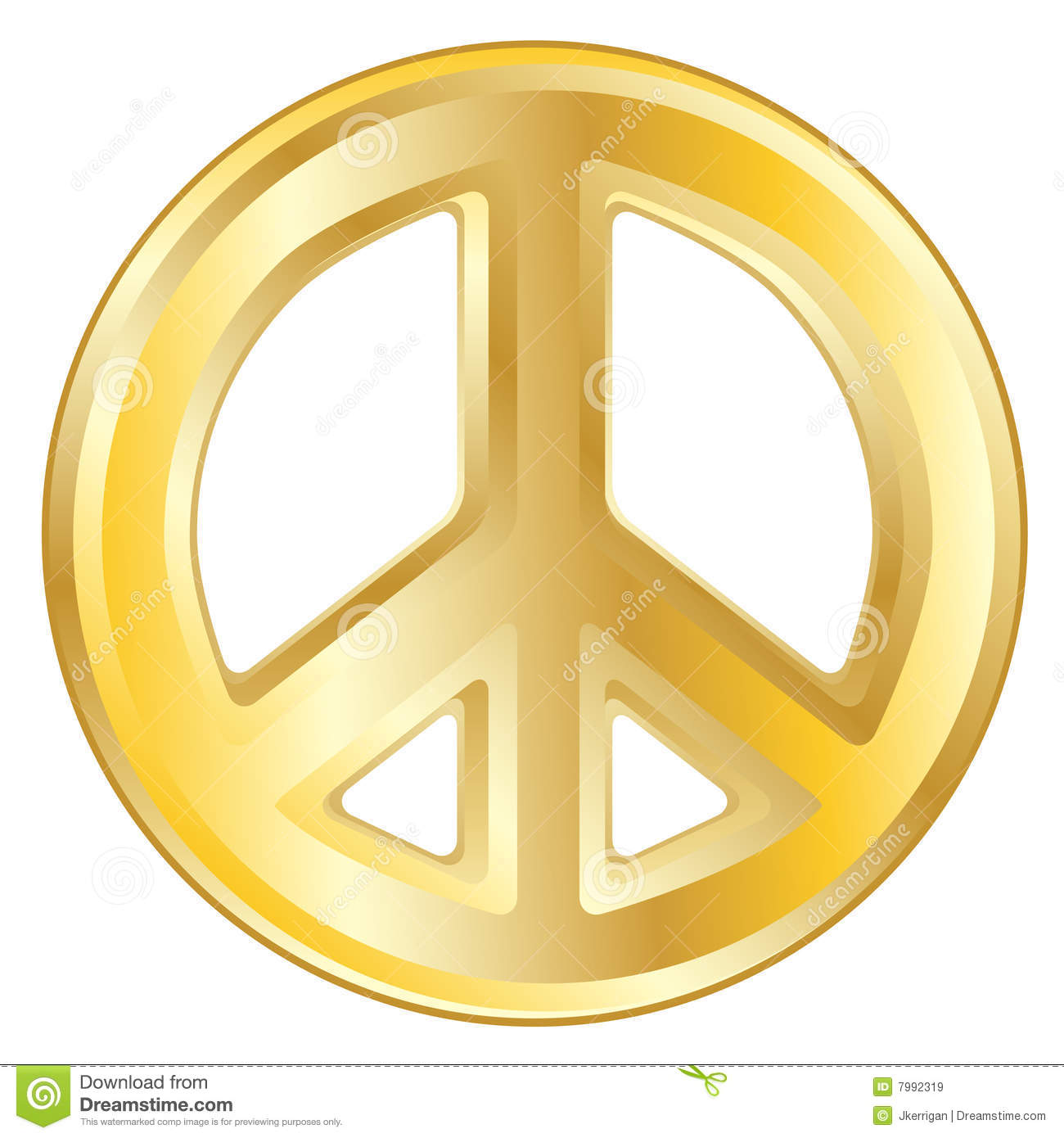 Gold Peace Sign Stock Vector Illustration Of Peace Icon 7992319