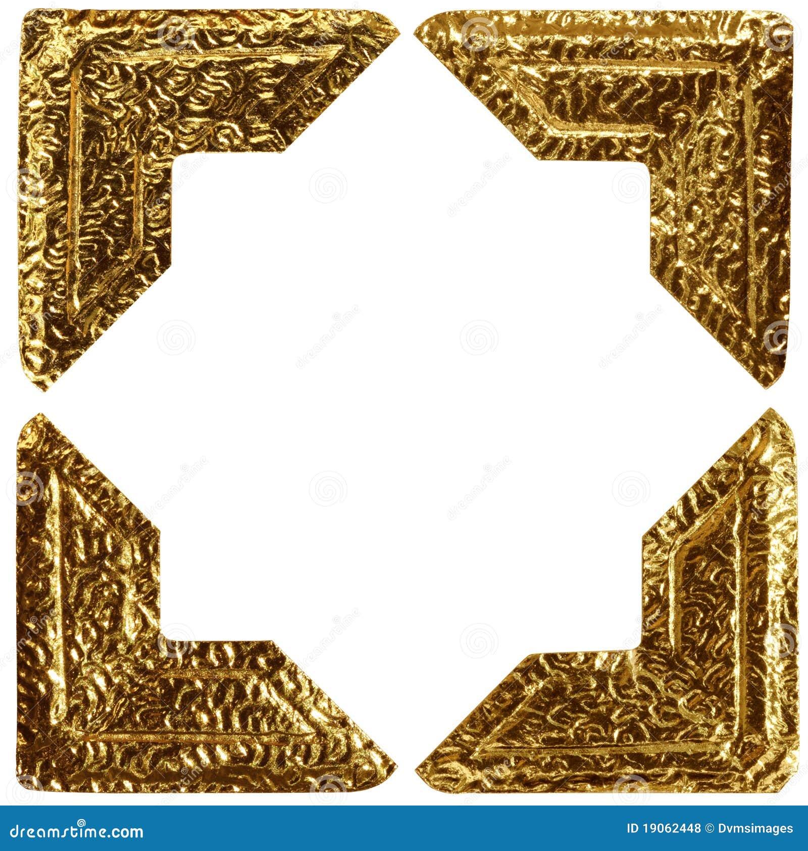 gold photo corners royalty free stock photos