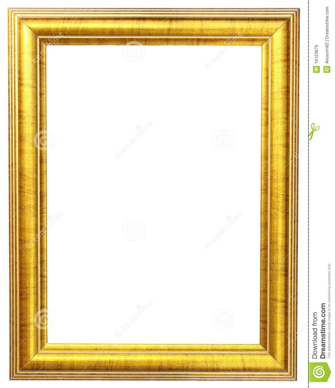 Gold picture frame stock photo. Image of golden, image - 16123870