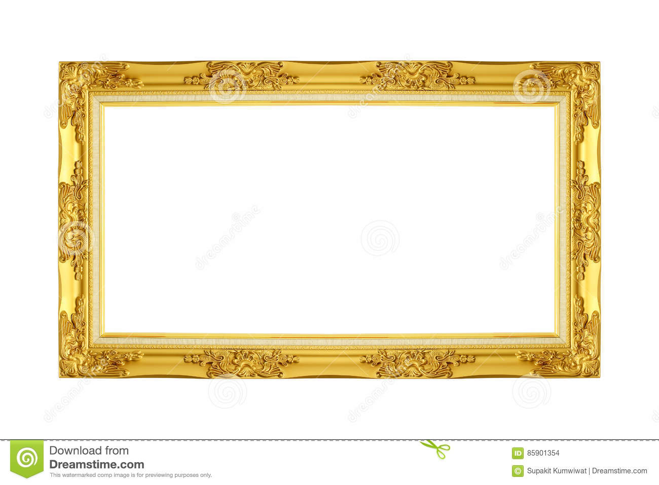 Gold picture frame.