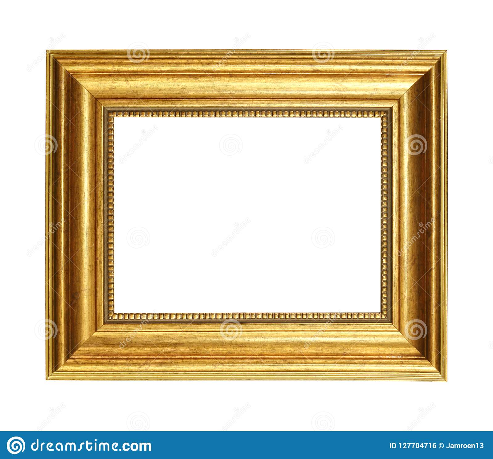 19a19e881a2 Gold Picture Frame Isolated On White Background With Clipping Pa ...