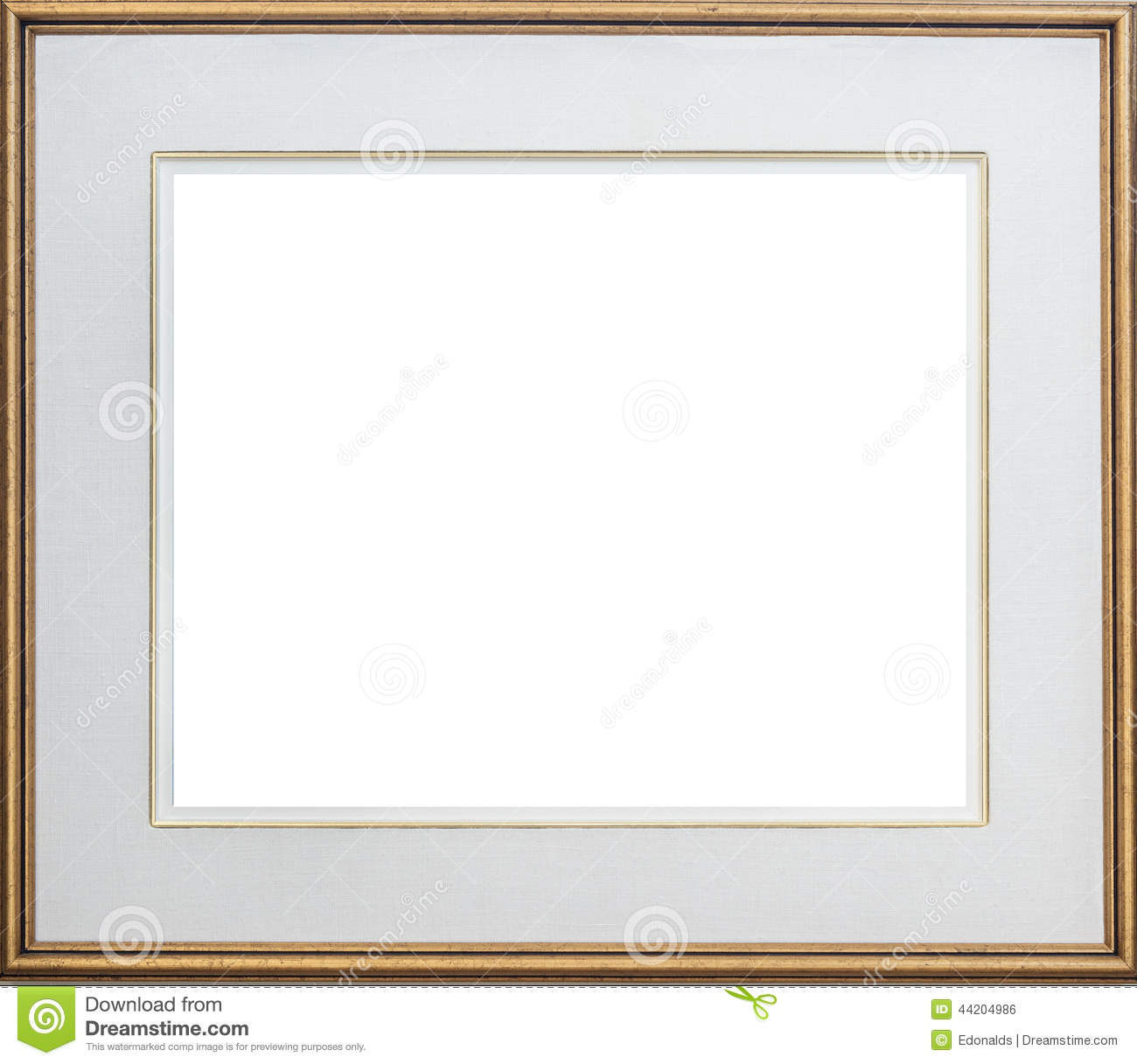 Gold Picture Frame Stock Photo Image 44204986