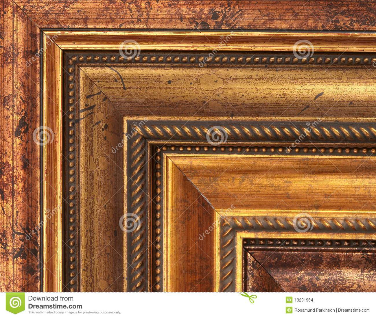 Gold Picture Frame Samples Stock Images Image 13291964