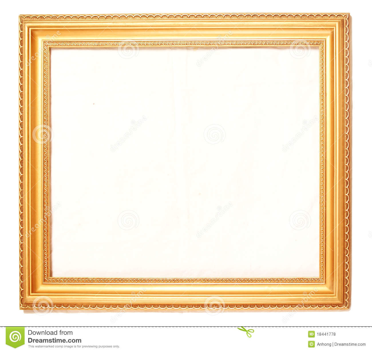 Gold Picture Frames Stock Photo Image Of Paintings