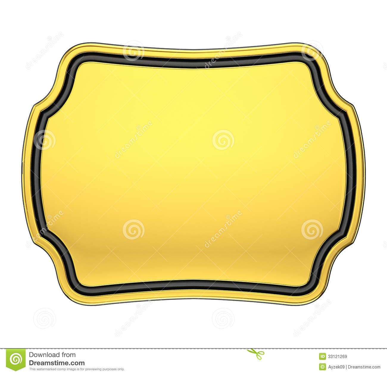 Gold Plaque Royalty Free Stock Images Image 33121269