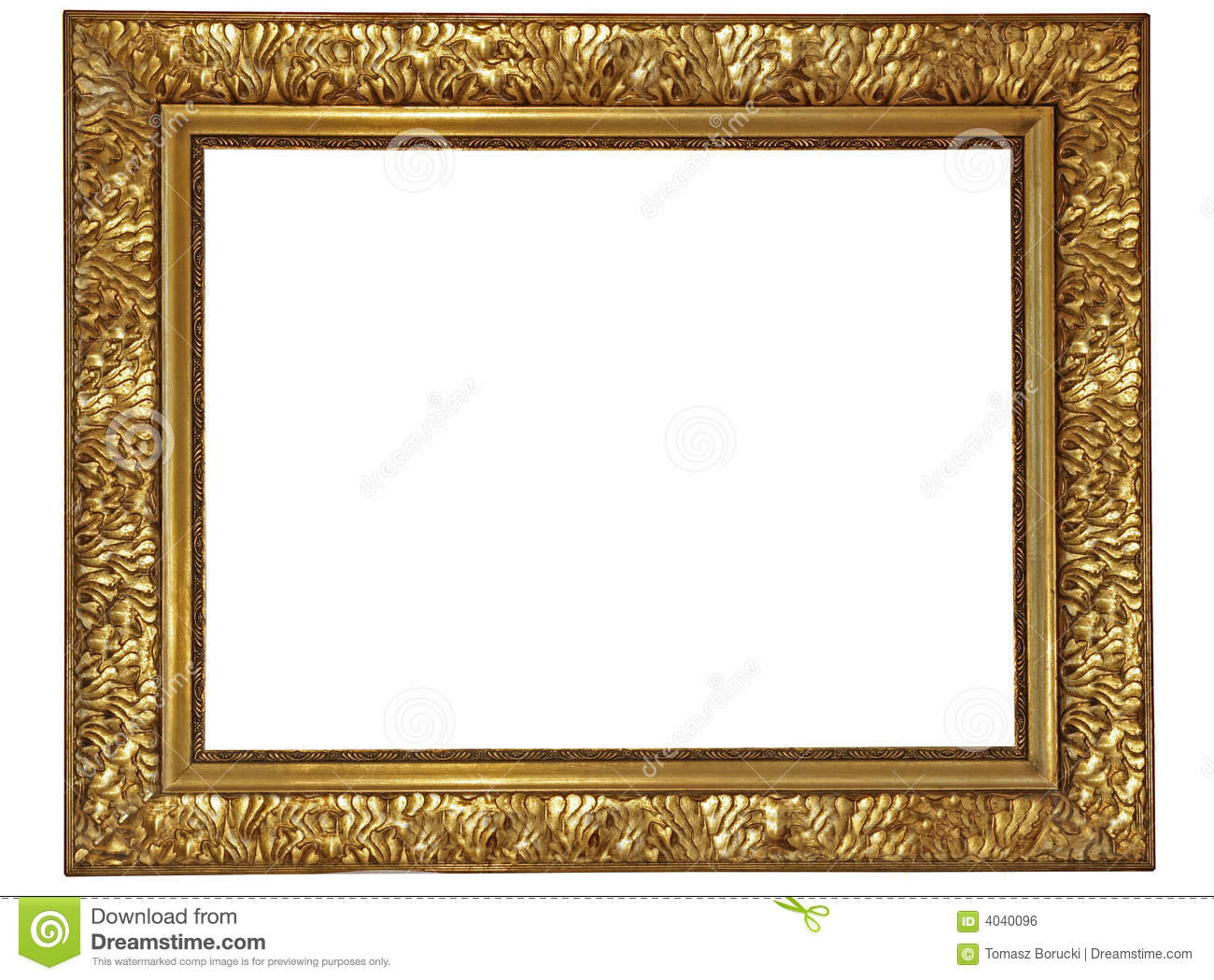 Gold plated wooden frame stock photo. Image of borderline - 4040096