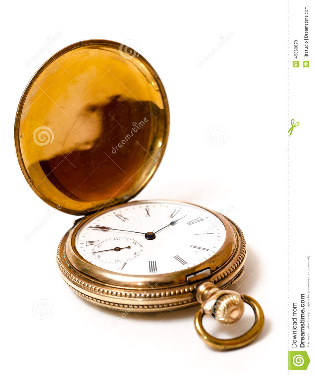 Retirement Pocket Watch Stock Photo