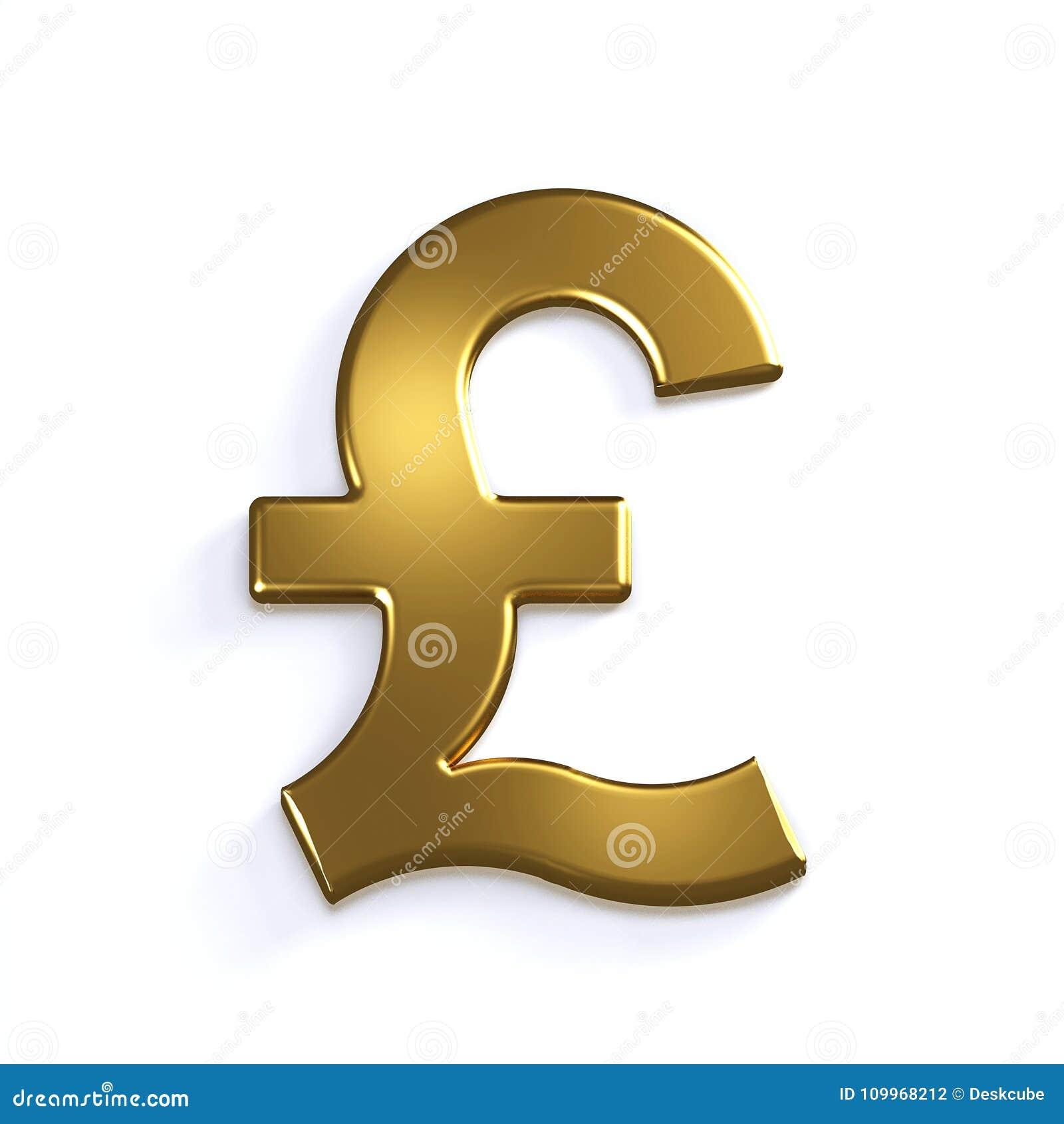 Gold pound symbol 3d render illustration stock illustration gold pound symbol 3d render illustration buycottarizona Choice Image