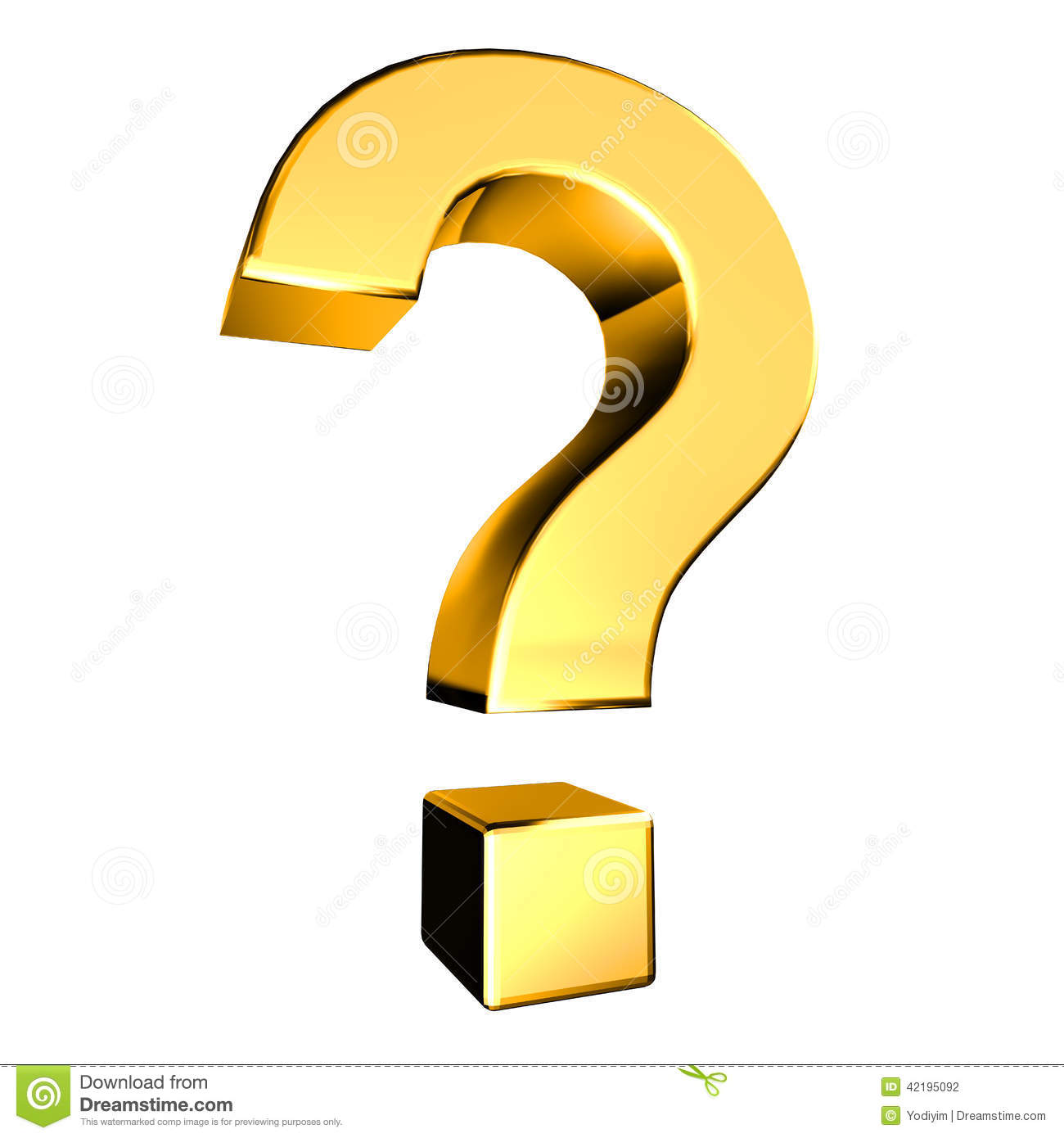 Gold Question Mark Stock Illustration - Image: 42195092