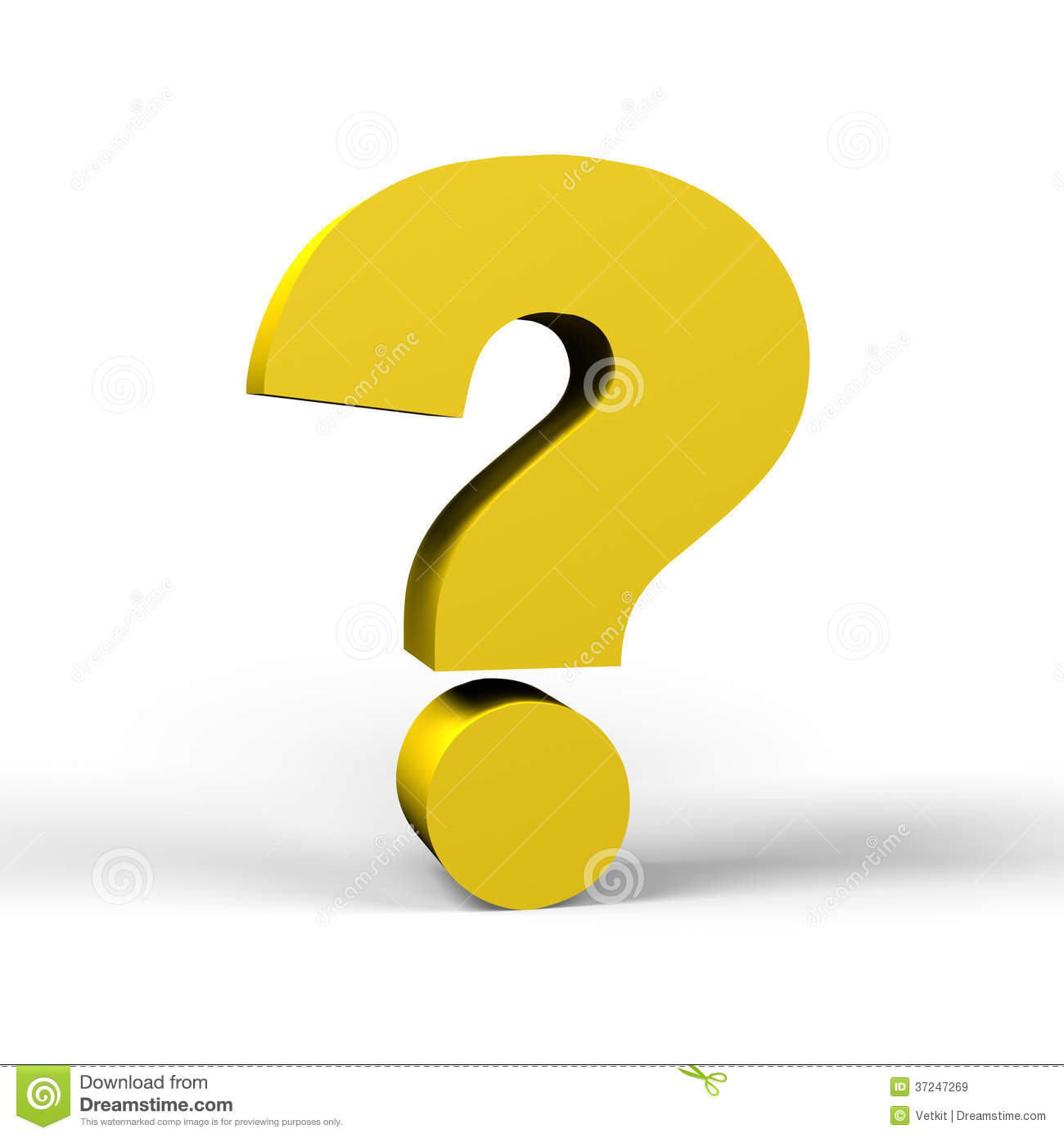 Gold Question Mark Royalty Free Stock Images - Image: 37247269