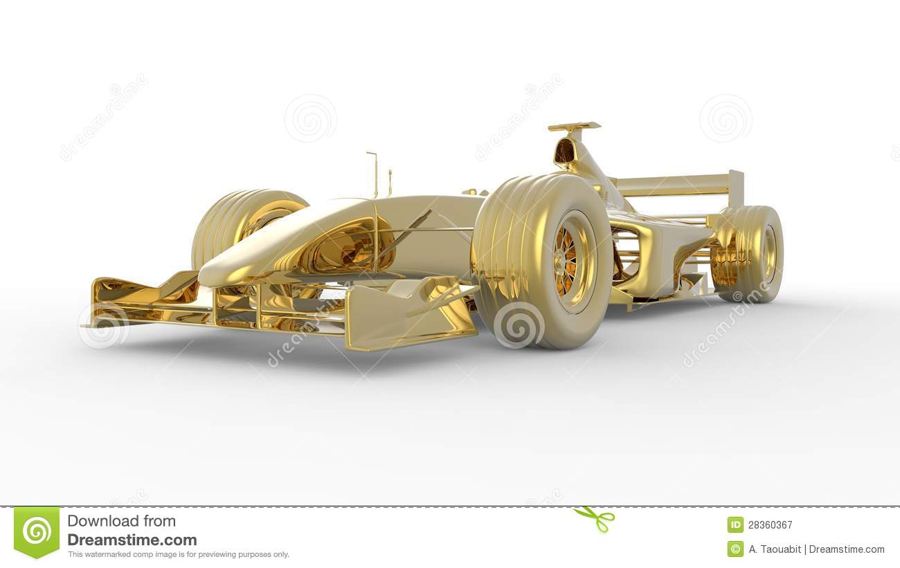 Gold Race Car Royalty Free Stock Photography Image 28360367