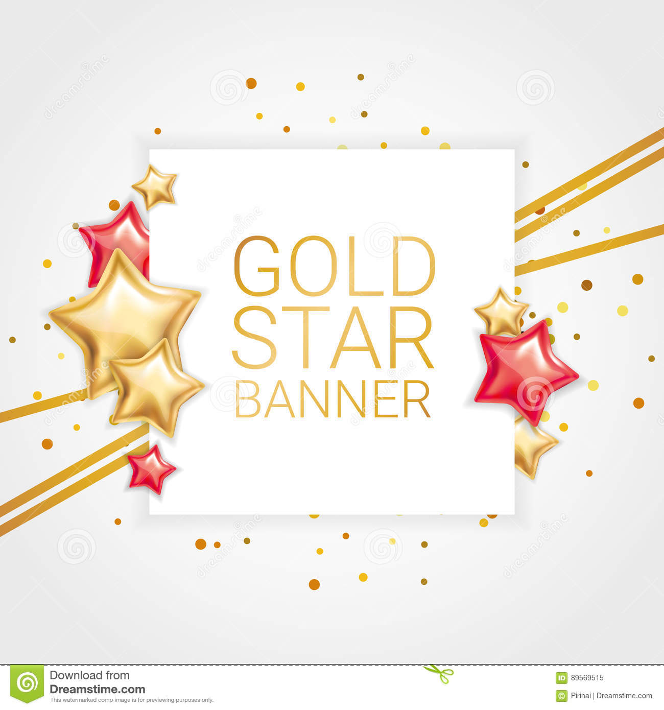 1.5 Inch Red Star Banner - Buy Ribbons Online