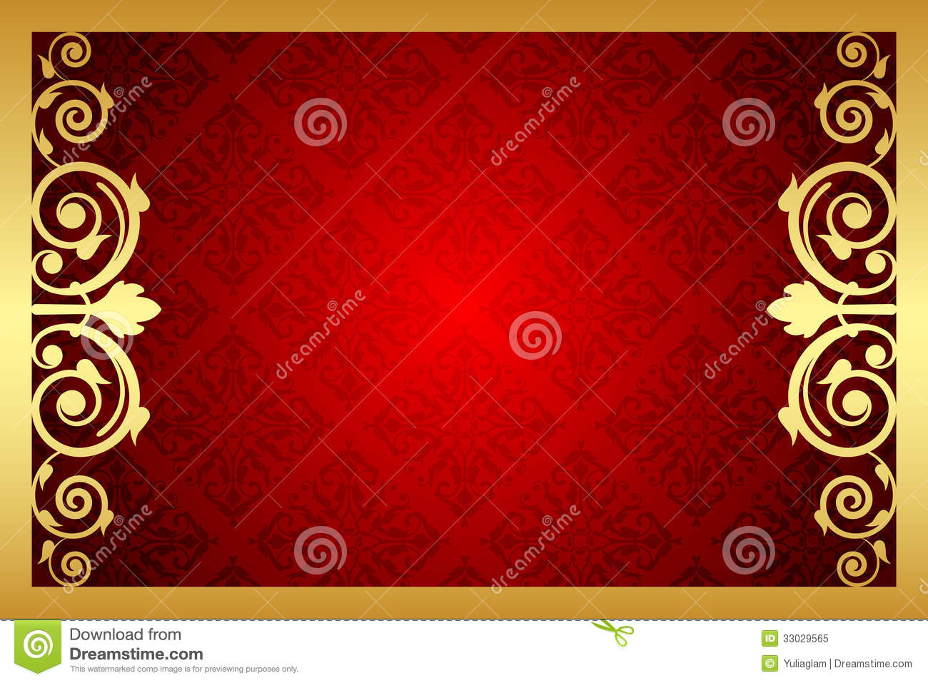 Gold And Red Royal Frame Stock Vector Illustration Of Invitation