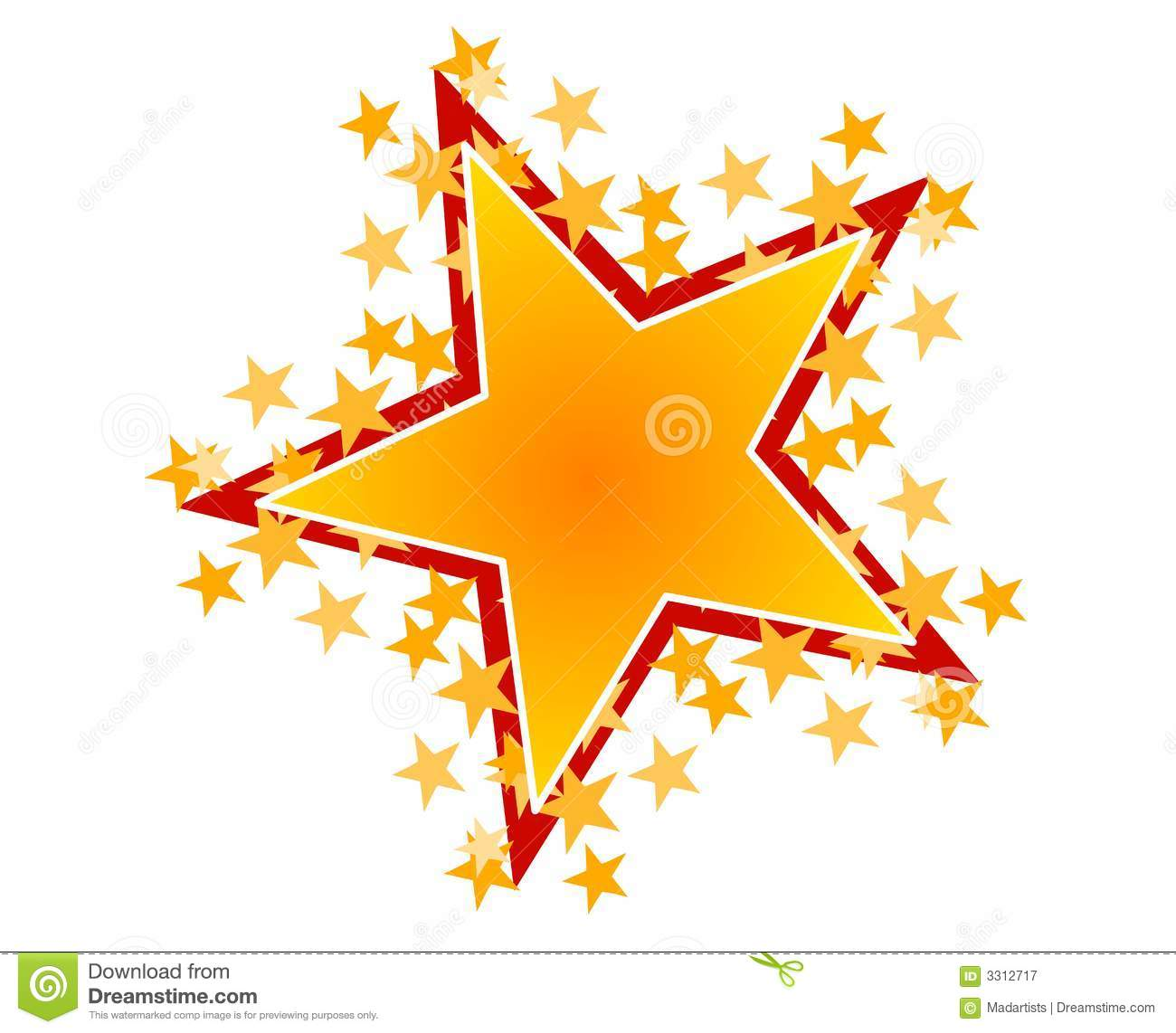 Gold Red Star Clip Art