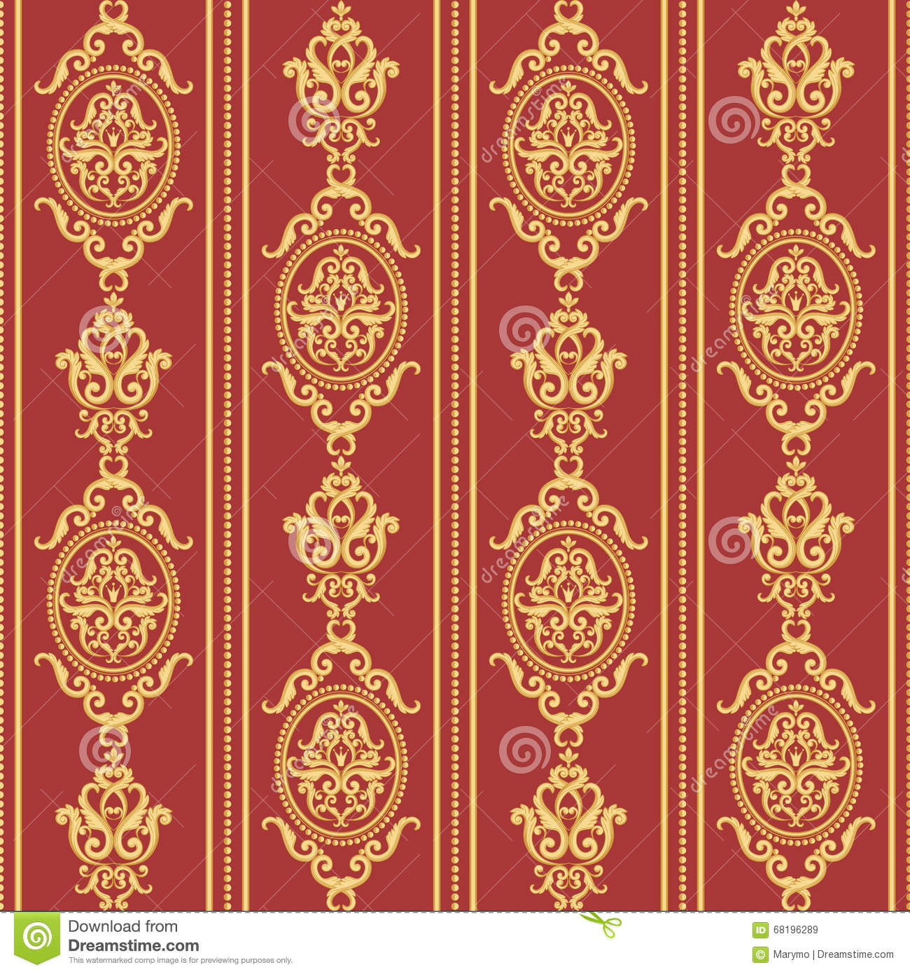 Gold And Red Texture In Vintage Rich Royal Style