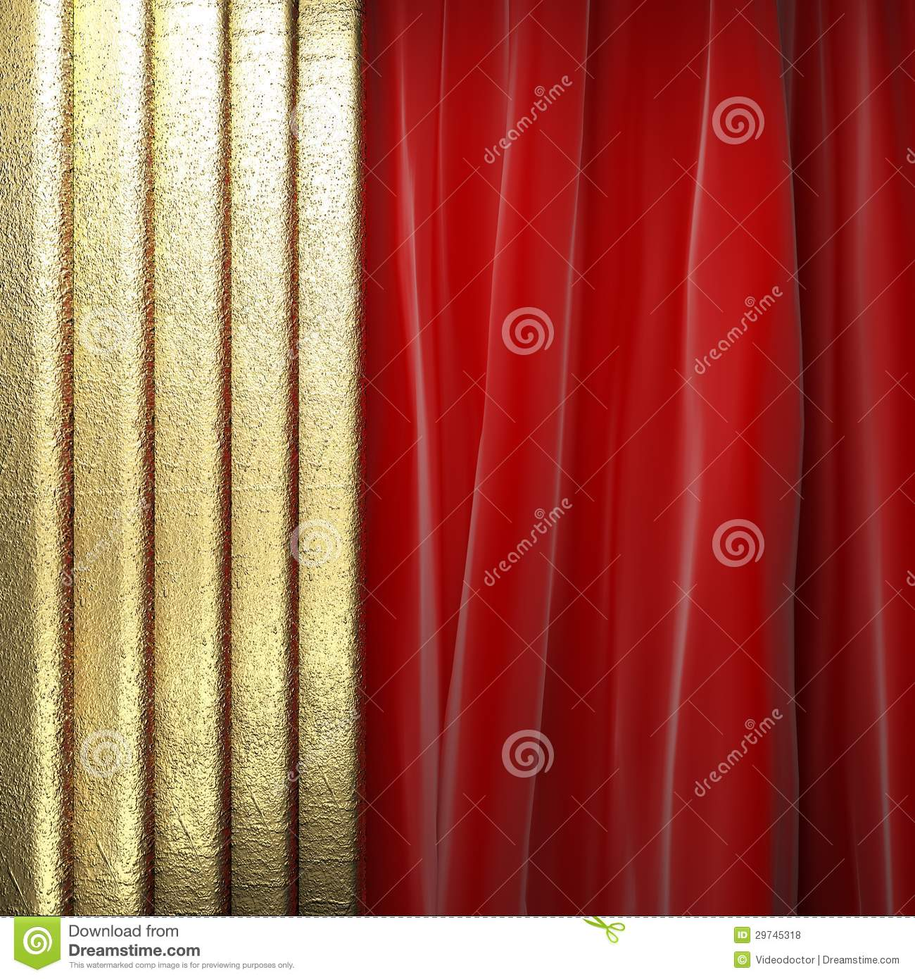 gold on red curtain royalty free stock photos image 29745318