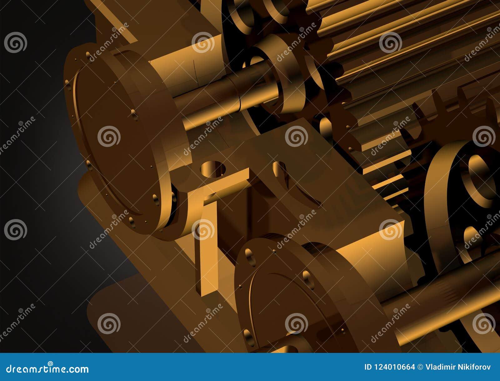 Gold Reducer On A Black Stock Illustration Illustration Of Harmony