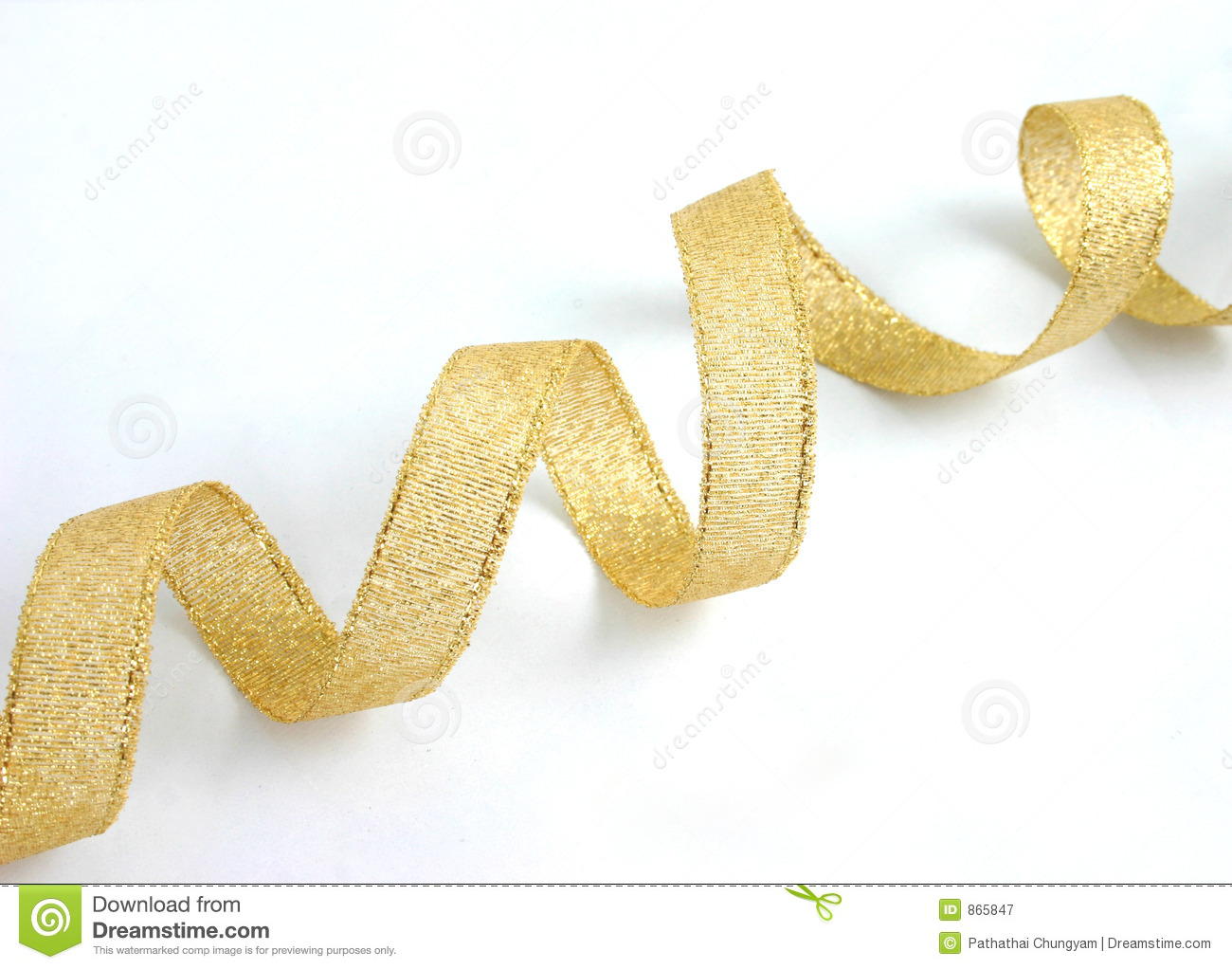 Gold Ribbon 1 Royalty Free Stock Photography - Image: 865847