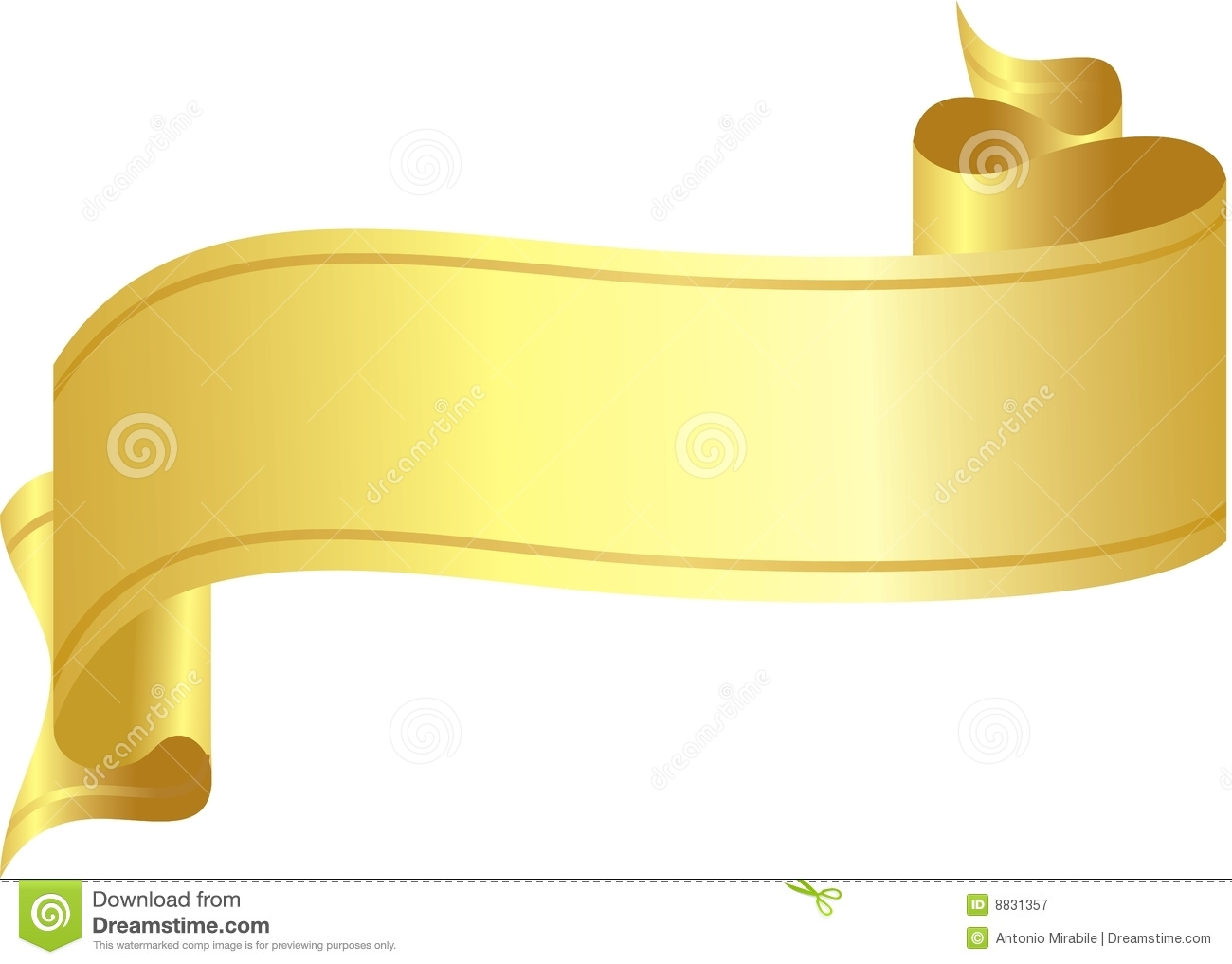 Gold Ribbon Royalty Free Stock Photography Image 8831357