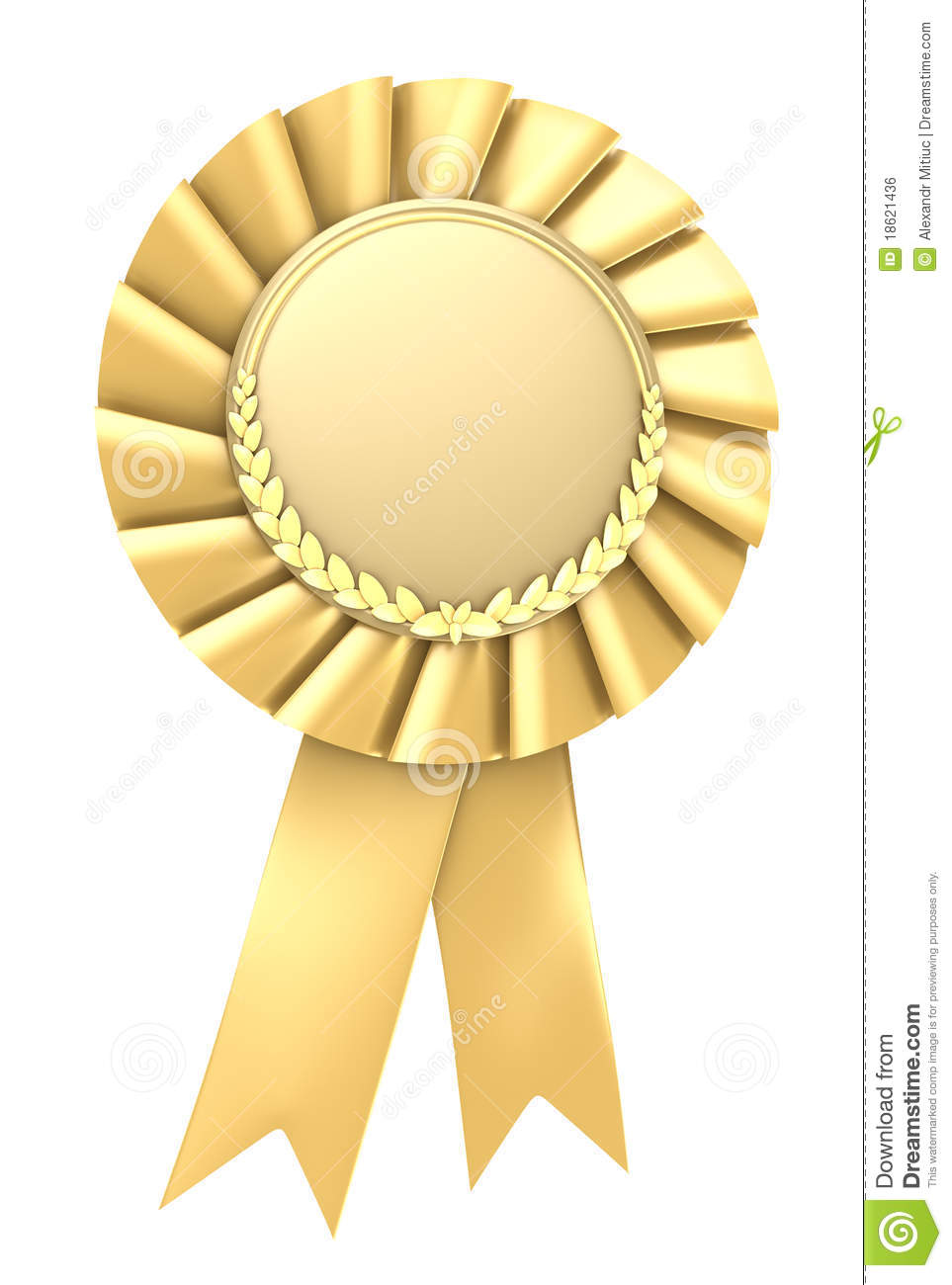 Gold Ribbon Award Blank With Copy Space Royalty Free Stock ...