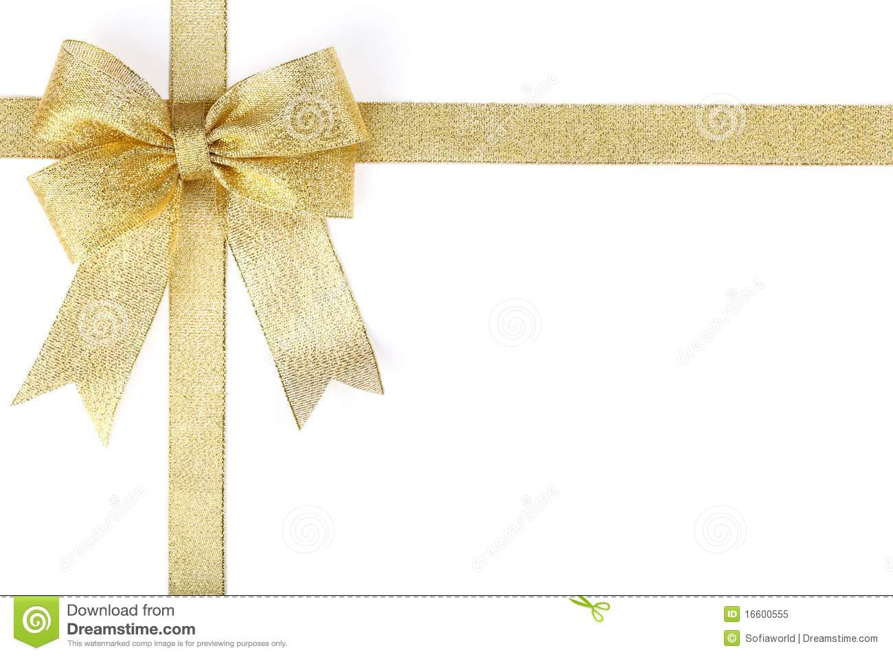 gold ribbon with bow royalty free stock photo image