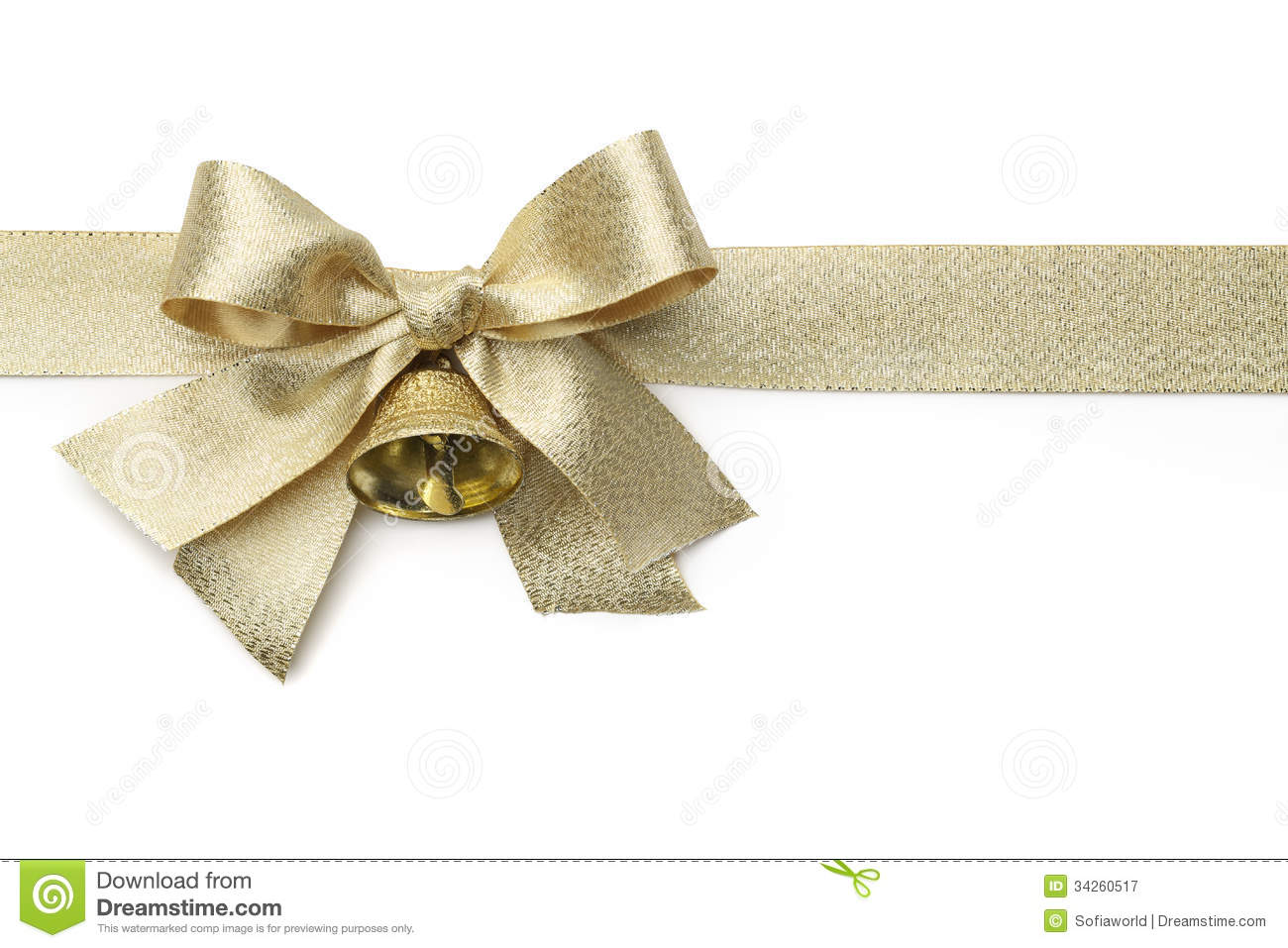 gold ribbon with bow stock image image of christmas 34260517
