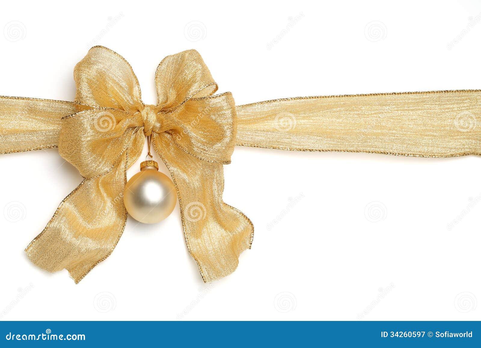 gold ribbon with bow stock photo 34260597 megapixl