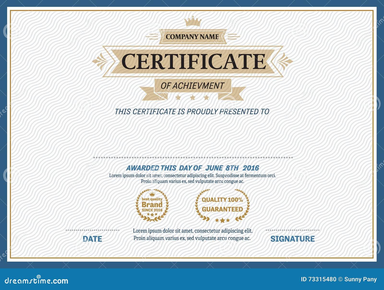 Gold ribbon certificate diploma template vector illustration stock gold ribbon certificate diploma template vector illustration yadclub Image collections
