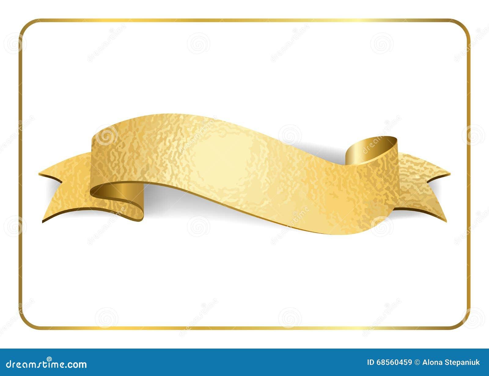 Gold Ribbon Foil On White 1 Stock Vector Image 68560459