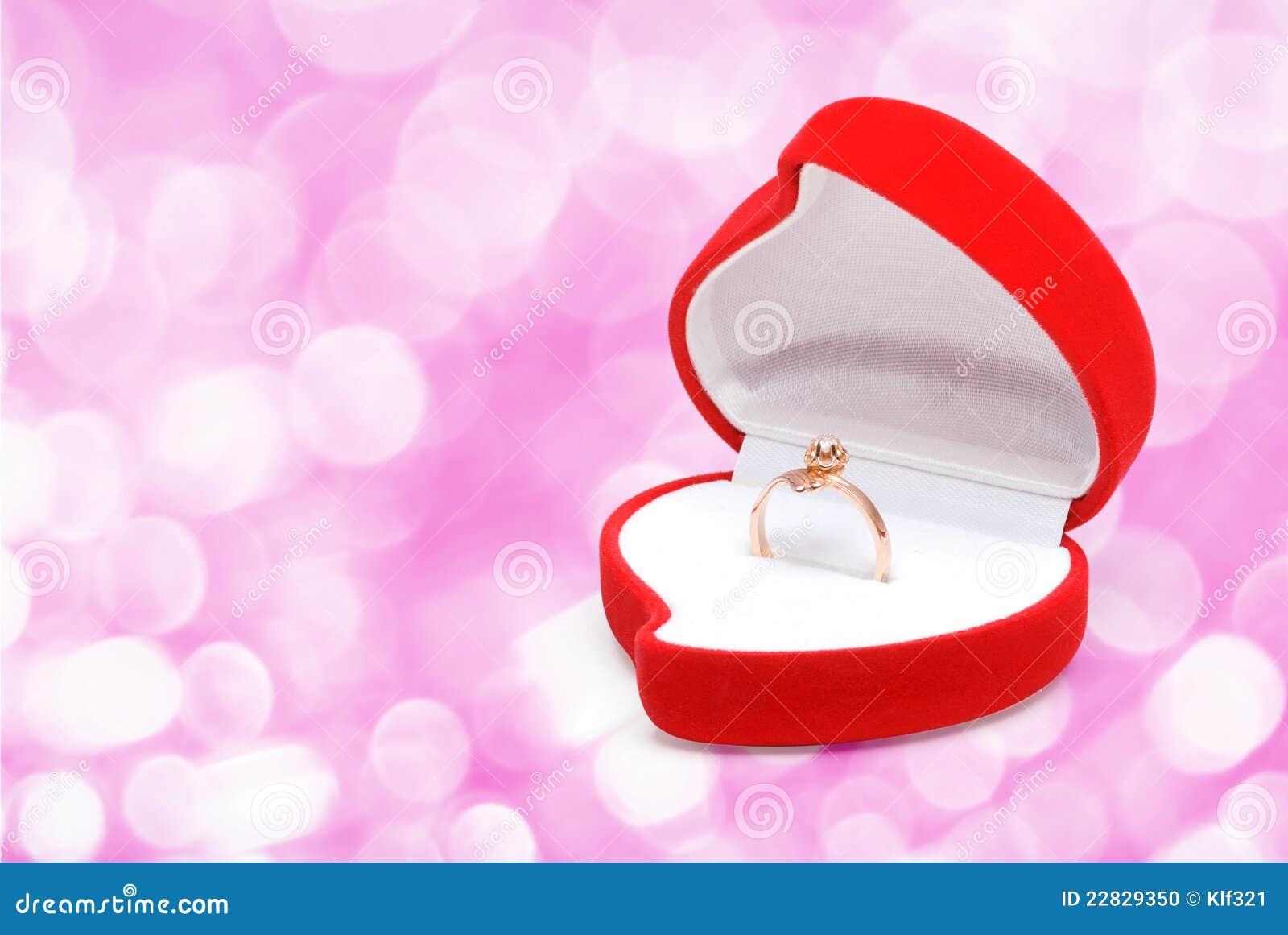 Gold ring in box stock photo. Image of gold, macro, romantic - 22829350