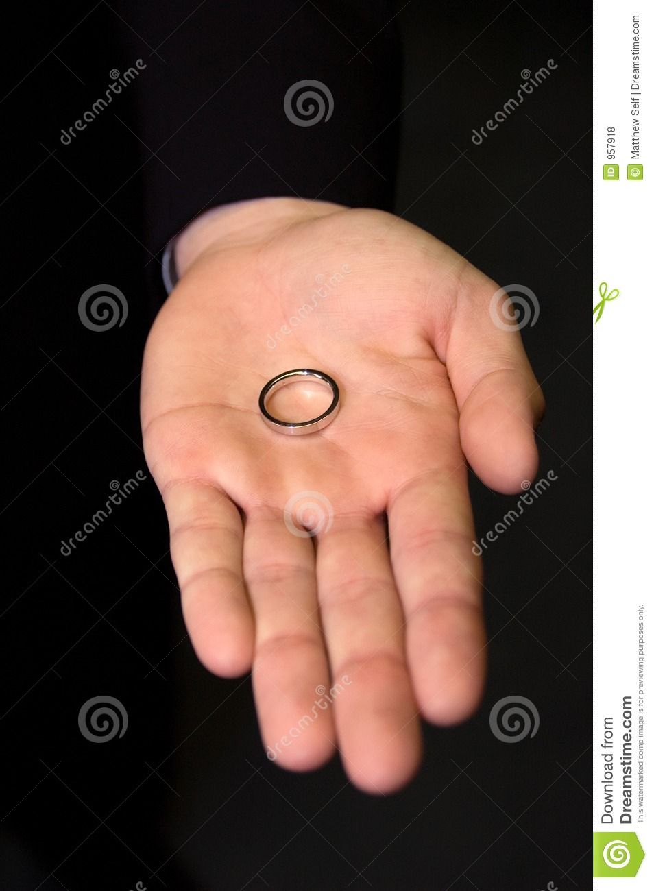 Gold ring in hand stock photo. Image of wedding, band, ring - 957918