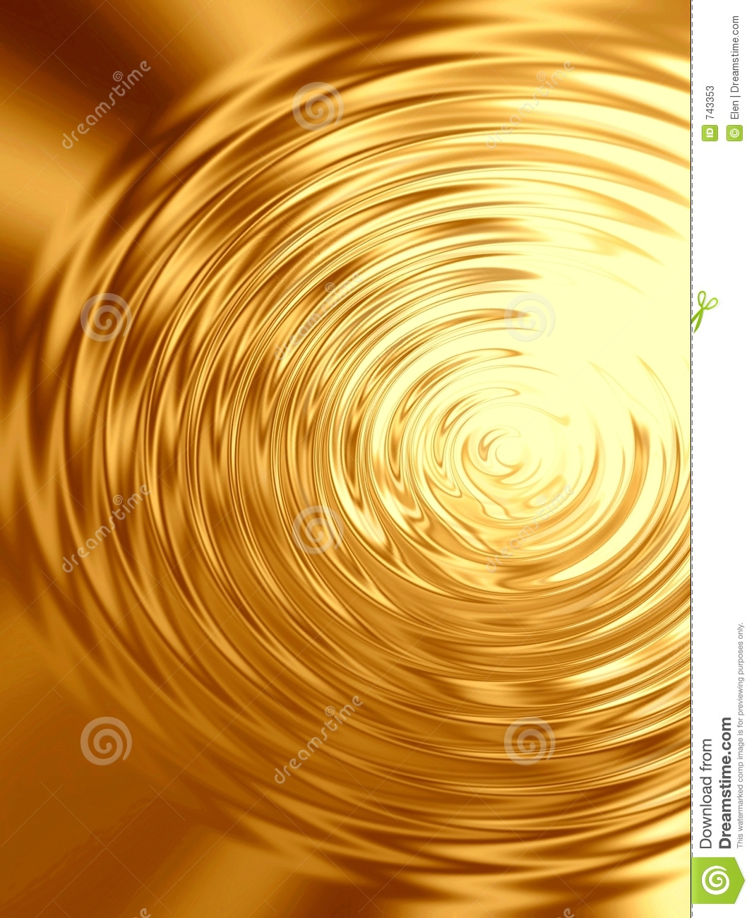 Gold Ripples In Water Stock Photos - Image: 743353
