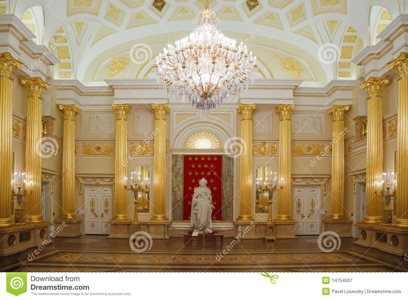 Gold Room With Statue Of Historical Museum Stock Image - Image of ...