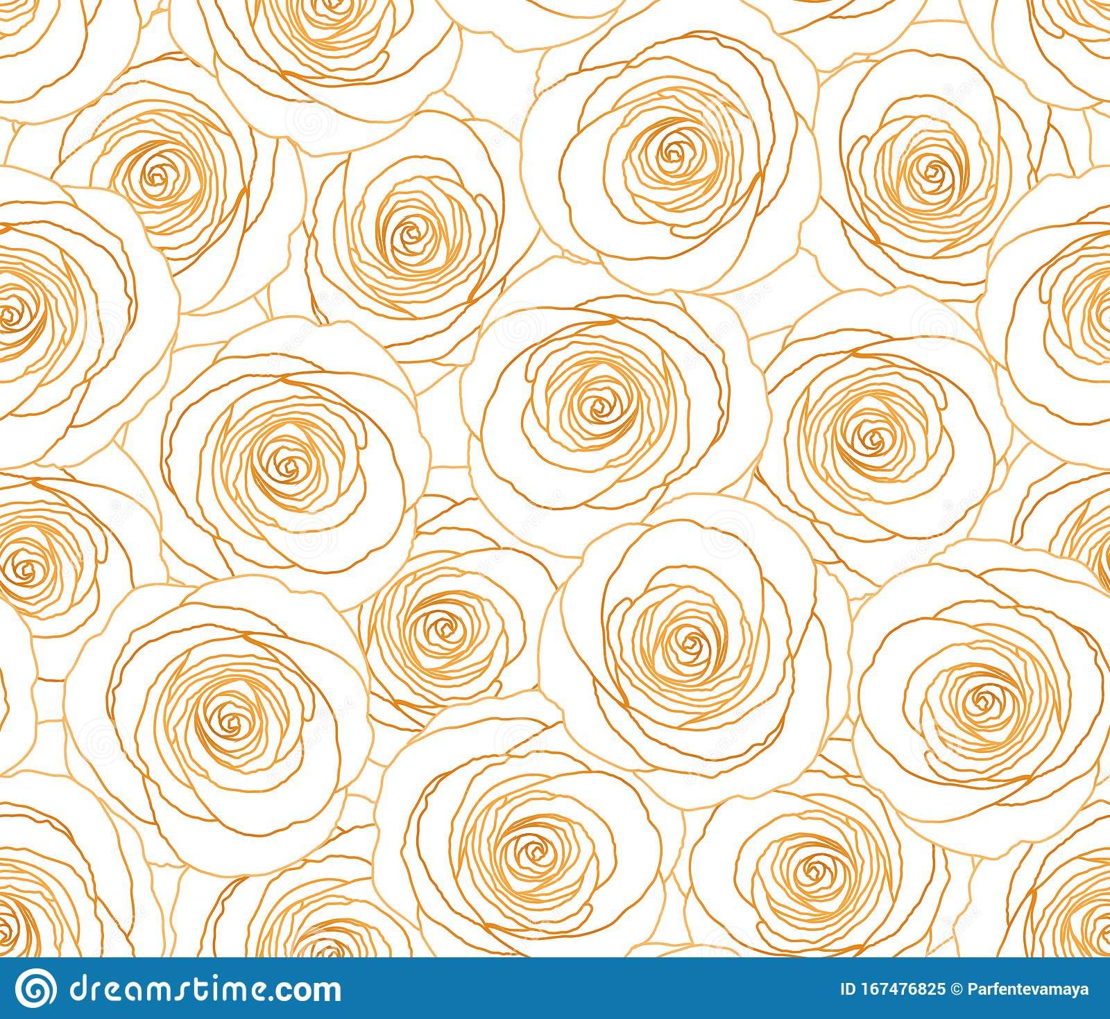 Gold Rose Seamless Pattern Flower Vector Background Glitter Gold
